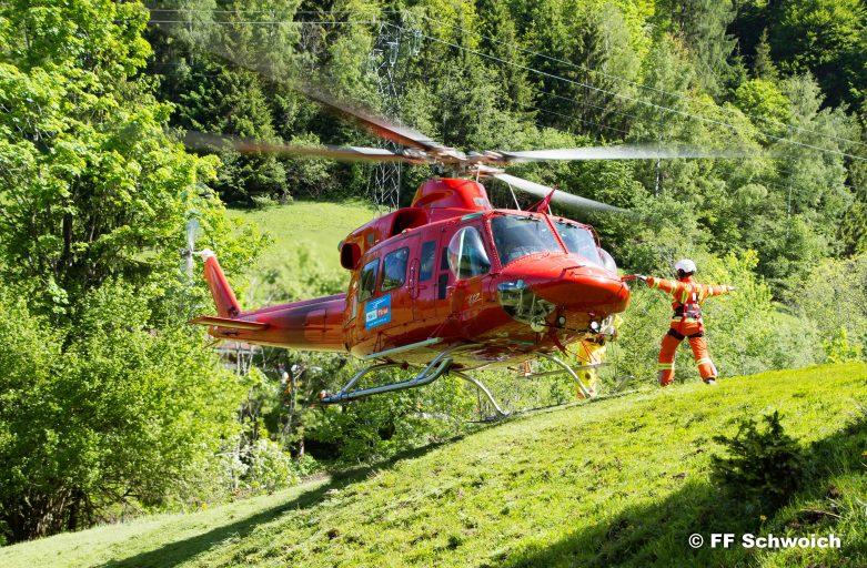 Hubschrauberübung in Schwoich